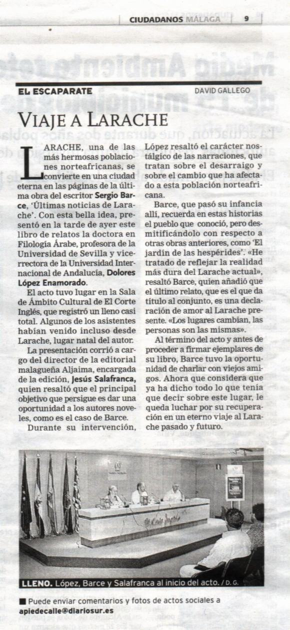 """DIARIO SUR de Málaga """"Últimas noticias de Larache"""""""