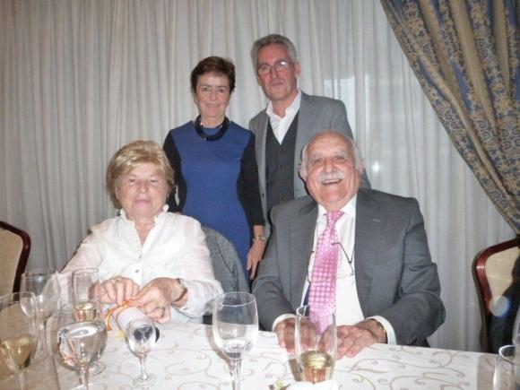 Mari Pepa Gomendio, Sergio Barce, Francisco Trujillo y esposa