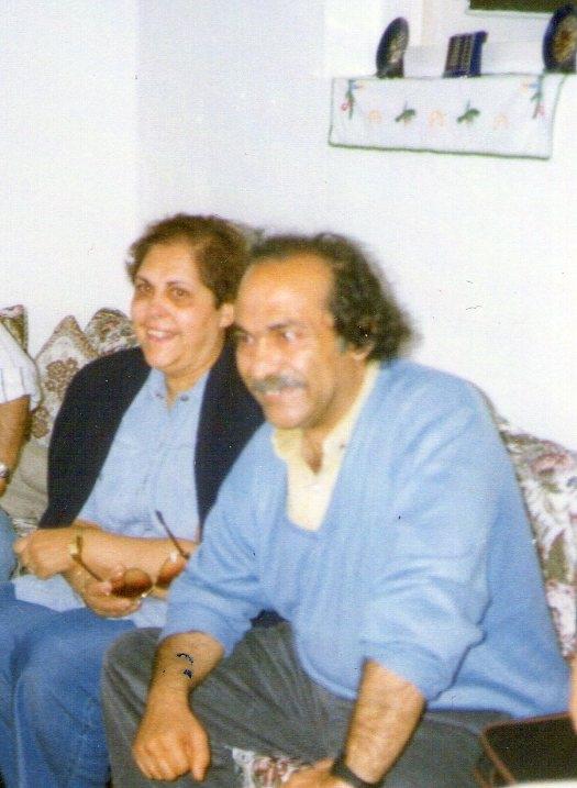 Alicia y Pedro Félix en la casa de unos amigos en Larache