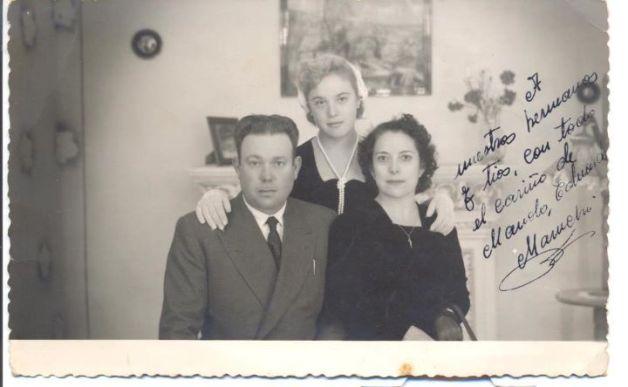 Mis abuelos: Manuel Gallardo y Maria Eduarda Martínez, y mi madre Maru Gallardo