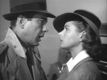 Humphrey Bogart e Ingrid Bergman en