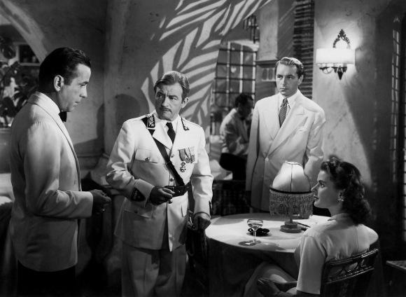 Bogart, Rains, Henreid y Bergman en el Café de Rick