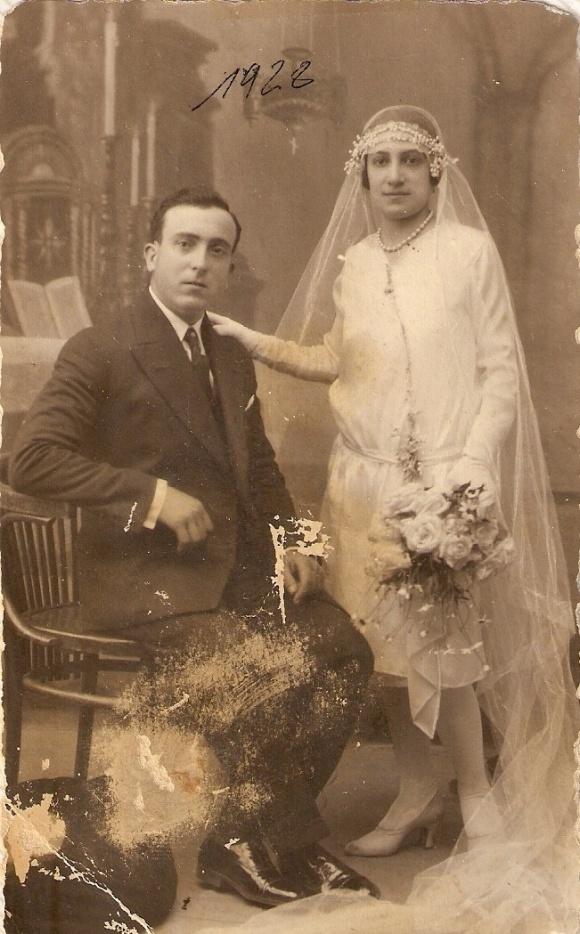 1928 - Boda de los padres de Paco Rodríguez