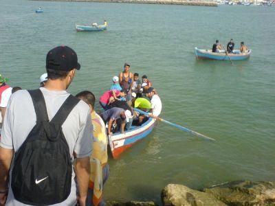 Cogiendo la barca
