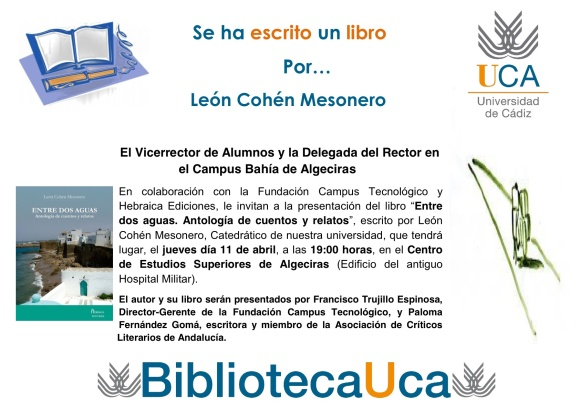 Invitación Se ha escrito un libro por León Cohén Mesonero