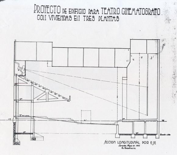 Plano Cine - Sección longitudinal - 1955 - APAB