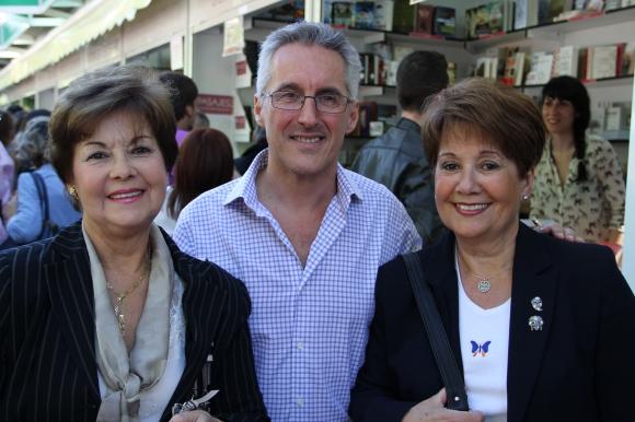 Adela Manso Osuna, Sergio Barce y Esperanza Manso Osuna