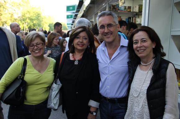 Mari Reyes Pérez, Vicky Fernández Moraga, Sergio Barce y Cristina Galbis