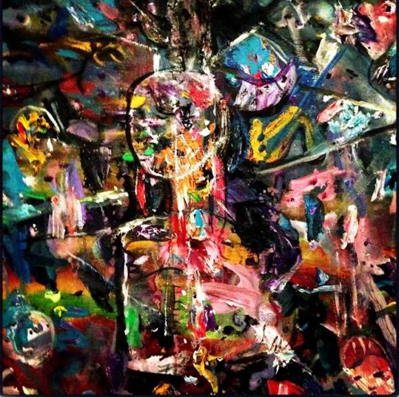 Una de las pinturas de Mohamed Kabboua