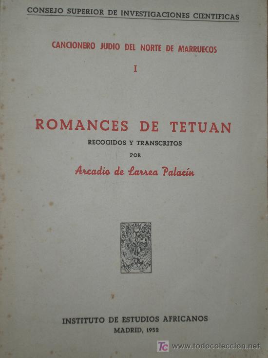 Romances de Tetuán de Larrea Palacín