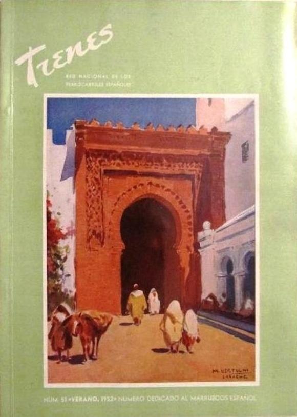 De nuevo Larache, por Mariano Bertuchi, portada de la revista