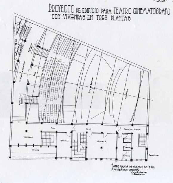 02 Larach.1955 entreplanta de acceso galeria y oficinasret