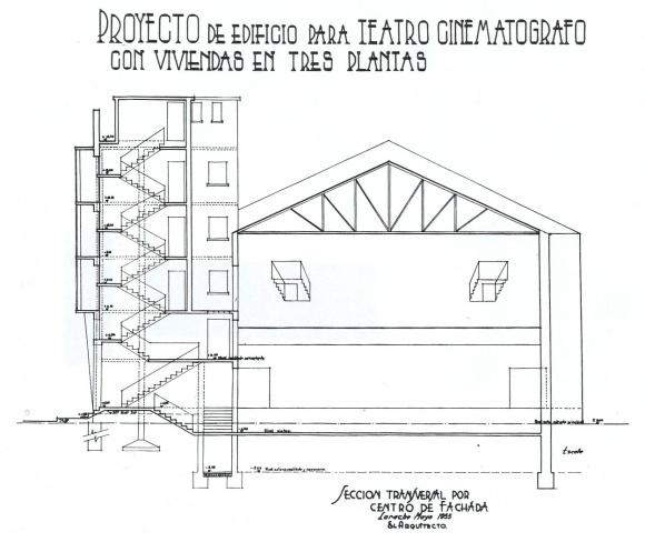 03 Larach.1955.Proy.de Edifici para teatro cinematografret.