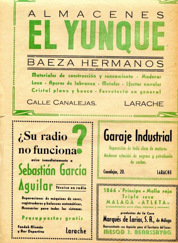 ANUNCIO DE EL YUNQUE 1947