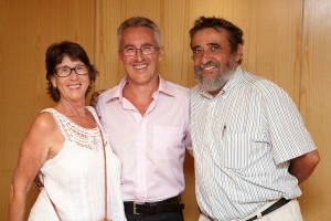 Larachenses: Elisa González, Sergio Barce y Pepe Domínguez