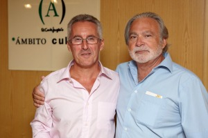 Sergio Barce con otro larachense: Paco Muñoz