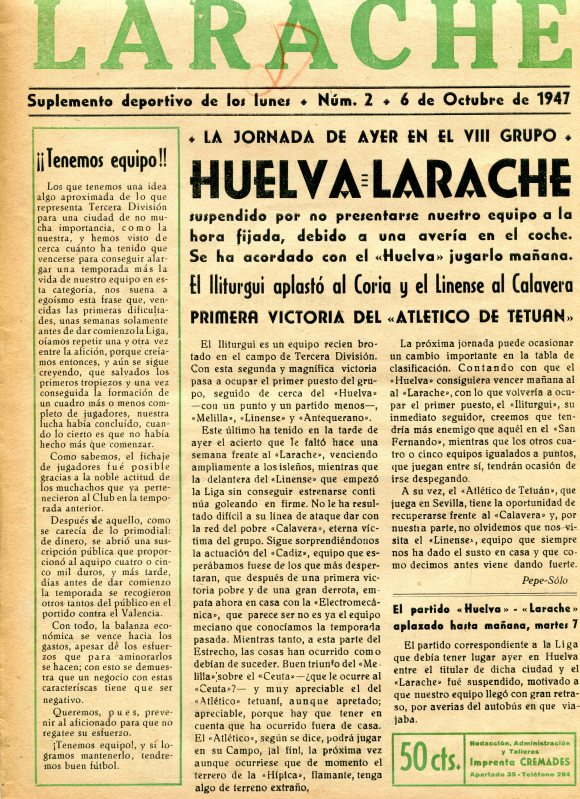 SUPLEMENTO DEL LARACHE 1947  1