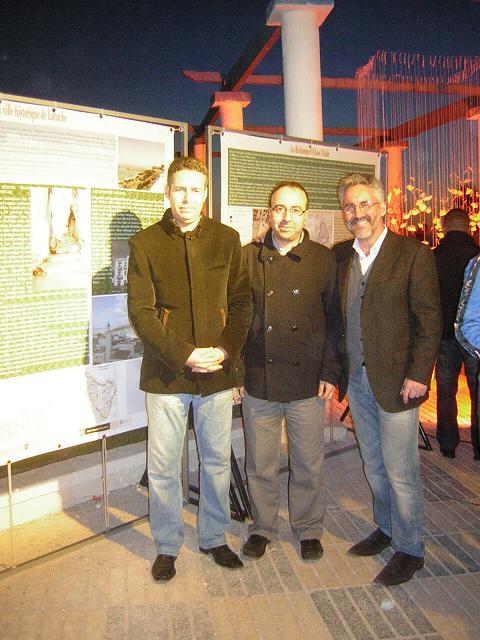 Hakim el Harrak, Mohamed Chrif Tribak & Sergio Barce, en Larache
