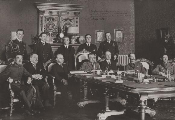 Conferencia Hizpano-Francesa de colaboración con Marruecos de 1925 - foto archivos de Rafael Gómez-Jordana