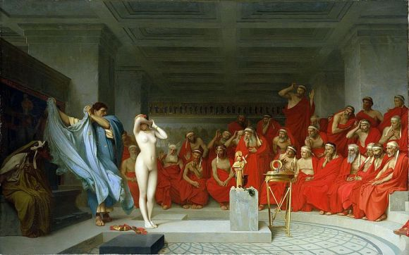 Friné ante el Areópago, cuadro de Jean-Lëon Gérôme