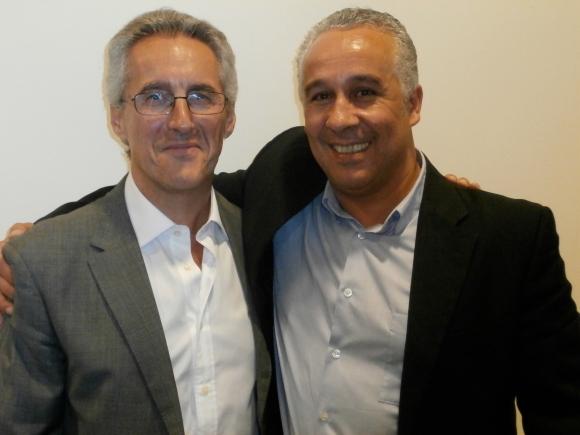 Sergio Barce y Abderrahman el Fathi, al término del acto