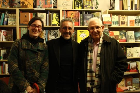 Alejandra, Sergio Barce y Agapito Rubio