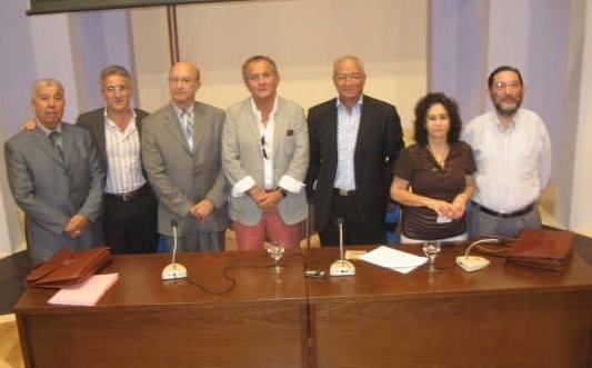 En Algeciras: Mohamed Akalay, Sergio barce, Ahmed Oubali, León Cohehn, Mohamed Sibari, Paloma Fernández Gomá