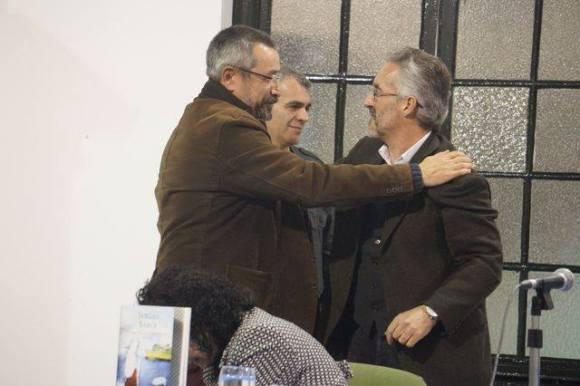 Con Eduardo Espinosa  (foto de Juan Moya)