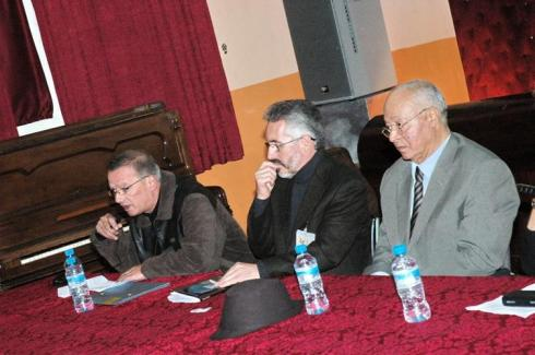 Larache - Colegio Luis Vives: Abdelouahid Bennani, Sergio Barce y Mohamed Sibari