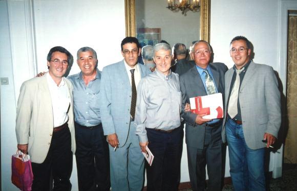 En Tánger: Sergio Barce, Mohamed Akalay, Abdellatif Limami, Said Jedidi, Mohamed Sibari y Abderrahman el Fathi
