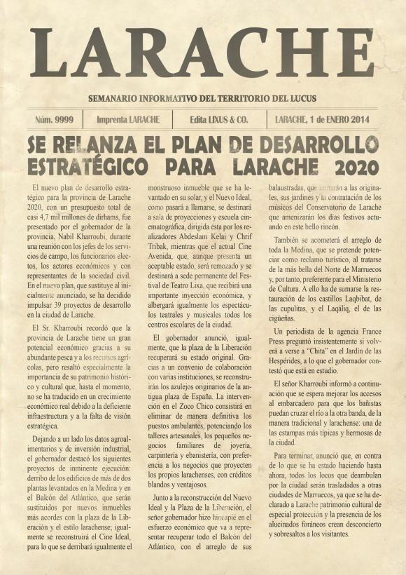 SEMANARIO LARACHE FICTICIO ENERO 2014 - 1