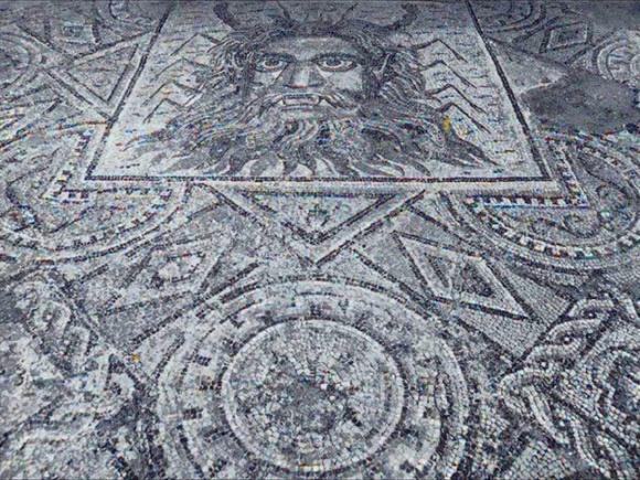 Lixus - mosaico del dios Okyanus