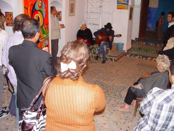 Jamal Nouman también actuó en la inauguración de esta exposición