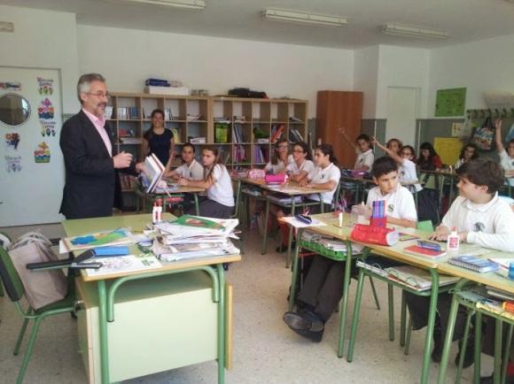 En una de las clases del Colegio Alborán