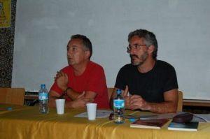 José Antonio Garriga Vela y Sergio Barce, en Larache