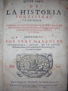 Quinta parte de la Historia Pontifical y Católica