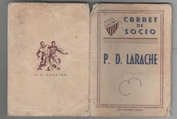 1946-09-01 Carnet Socio AAM del PD Larache h 1 y 4 de 4
