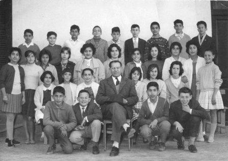 ALUMNOS DE LA ALIANZA ISRAELITA UNIVERSAL DE TÁNGER (foto del archivo de ACAM.LUKUS)