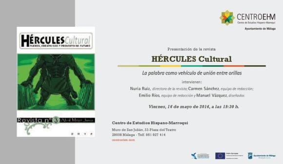 INVITACIÓN REVISTA HÉRCULES EN MÁLAGA