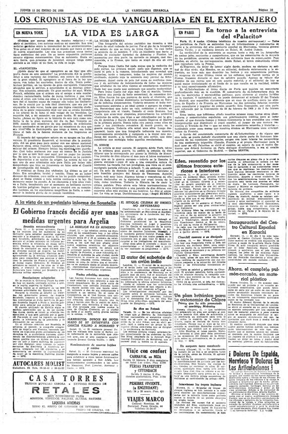LA VANGUARDIA 1956