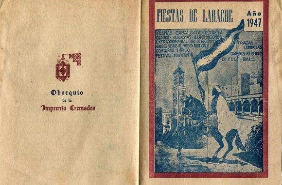 PROGRAMA FIESTAS DE LARACHE 1947 - 0