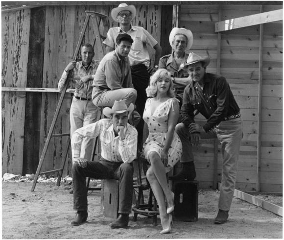 VIDAS REBELDES - 1961 - FRANK TAYLOR, HENRY MILLER, ELI WALLACH, JOHN HUSTON, CLARK GABLE, MARILYN MONROE Y MONTGOMERY CLIFT