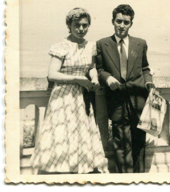 María (Maru) Gallardo y Antonio Barce, en el Balcón del Atlántico
