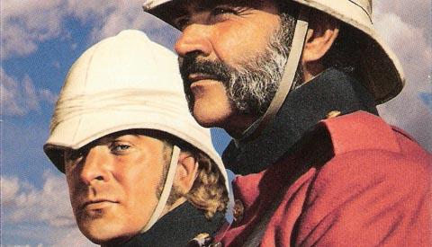 Michael Caine y Sean Connery en El hombre que pudo reinar