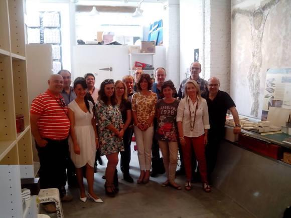 Rafa Sastre con algunos otros miembros de la Generación BiblioCafé