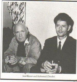 Jean Genet y Mohamed Chukri (foto tomada de la web de la Editorial Hijos de Muley Rubio)
