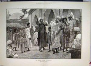 Mercado de esclavos en Marruecos en 1888 - tomado del blog Epistemowikia