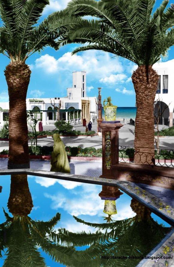 Plaza de España en Larache (foto de la web de Houssam Kelai)
