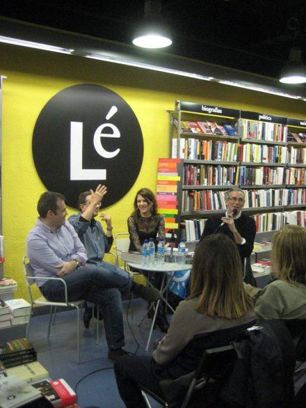 HERMINIA LUQUE durante a presentación de la Generación BiblioCafé en Madrid