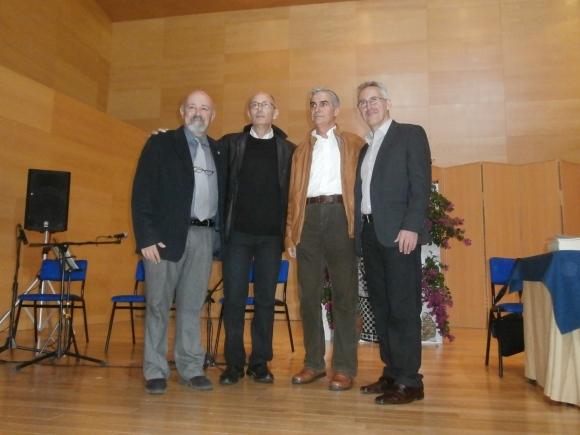 Antes de comenzar: Ernesto Blanco, Manuel Gahete, José Sarria y Sergio Barce
